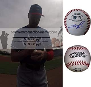 Hunter Pence Texas Rangers Autographed Hand Signed Baseball with Exact Proof Photo of Signing, San Francisco Giants, Houston Astros, Philadelphia Phillies