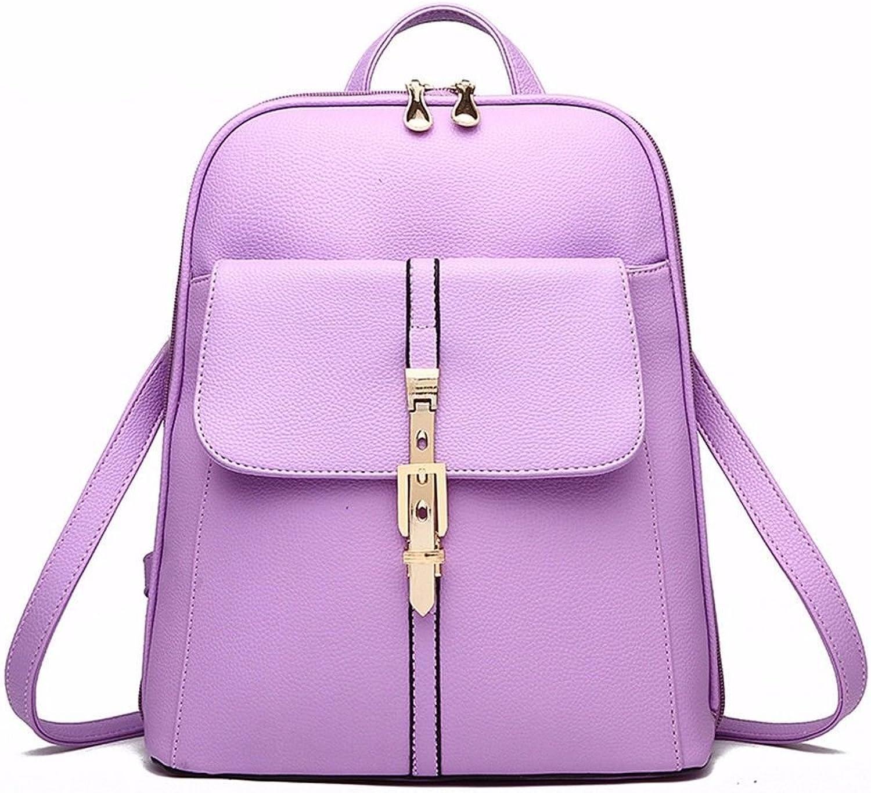 Women Backpack Leather Backpack for Girls Schoolbag Casual Daypack School Backpacks Bag Satchel purple