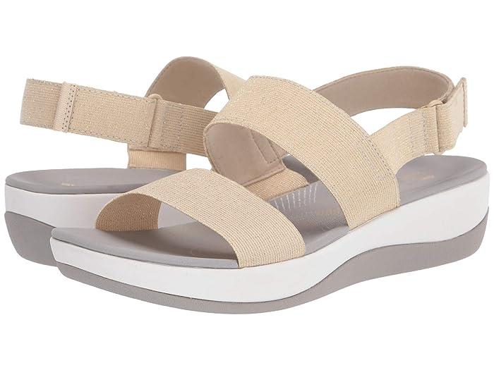 Clarks  Arla Jacory (Gold Metallic Textile) Womens Sandals