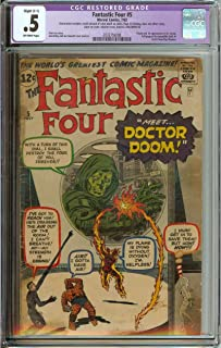 FANTASTIC FOUR #5 CGC 0.5 OW PAGES R