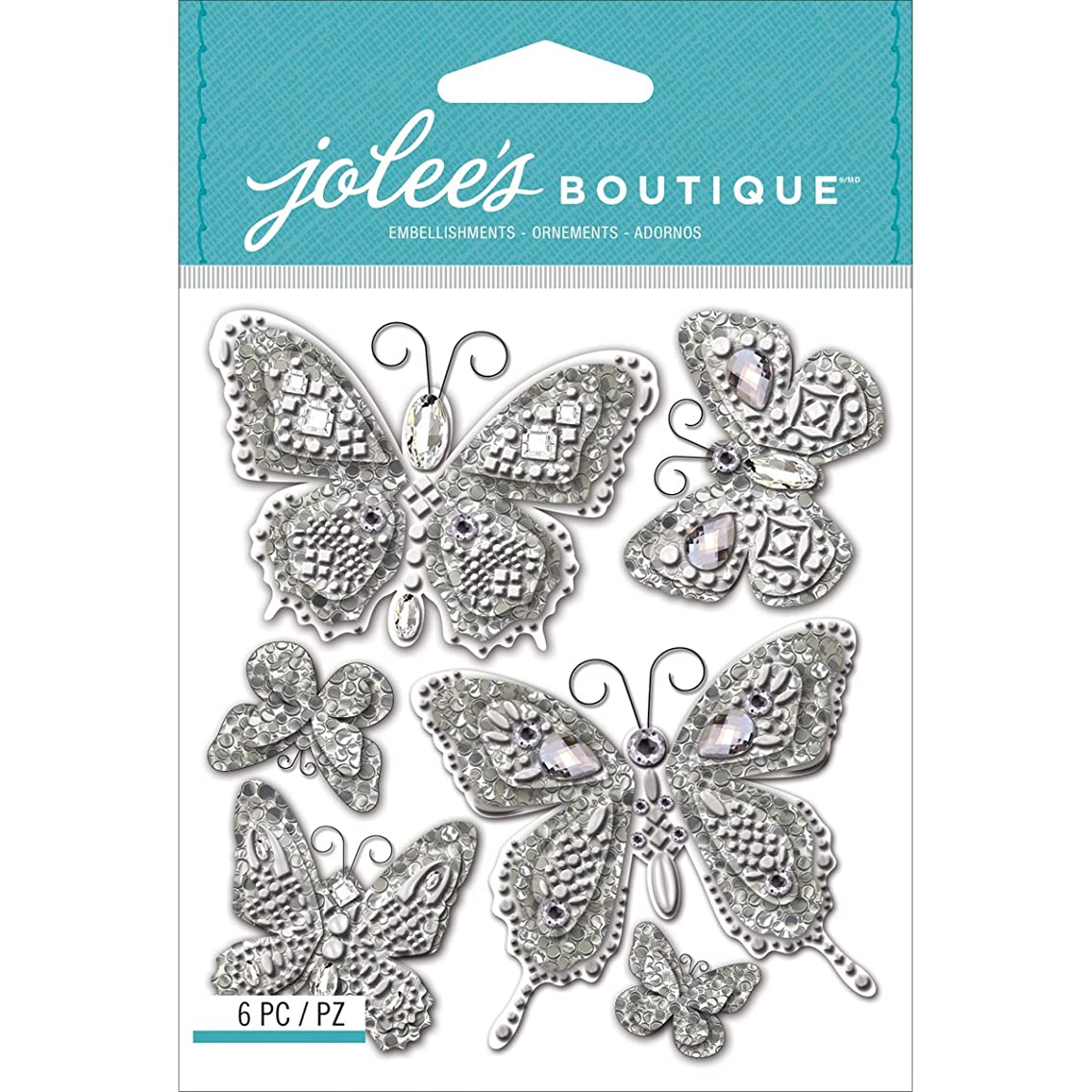 Jolee's Boutique Dimensional Stickers, Butterfly Bling dbgfvcv40