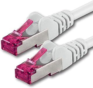 15m - vit - 1 stycke - nätverkskabel CAT6a (10Gb / s) S-FTP CAT 6a LAN-kabel - GHMT-certifierad PIMF 500 MHz kompatibel me...