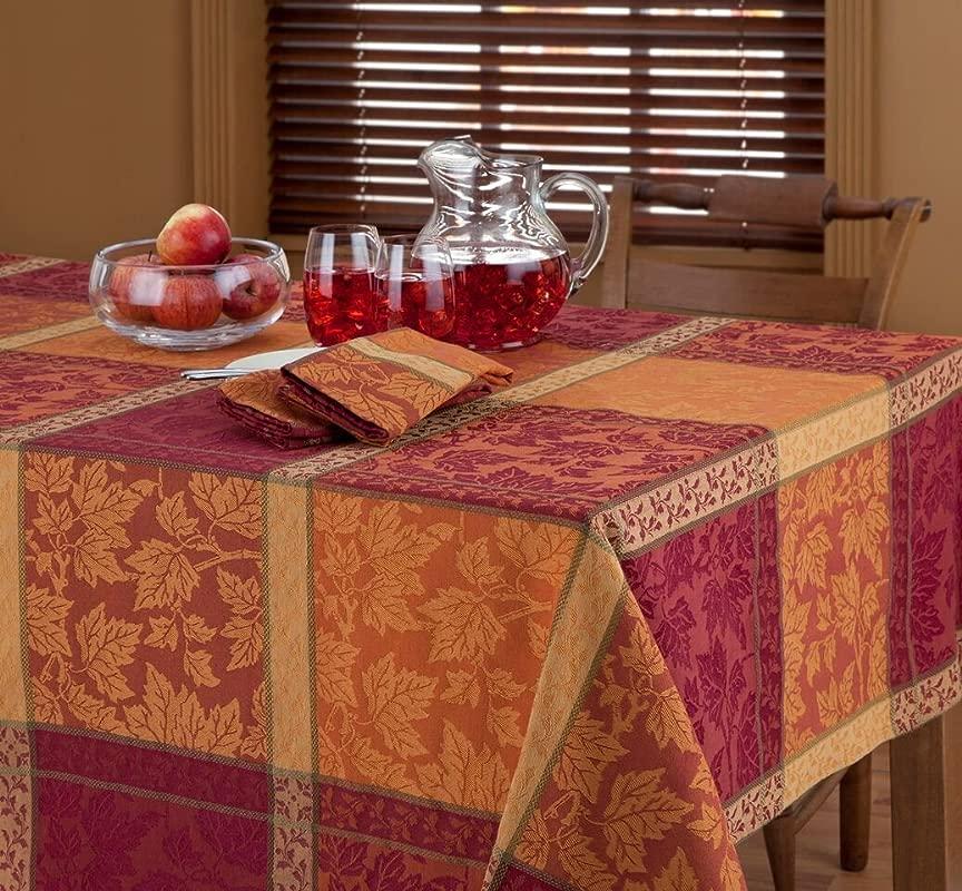 Montvale Autumn Fall Fabric Tablecloth 60 X 84