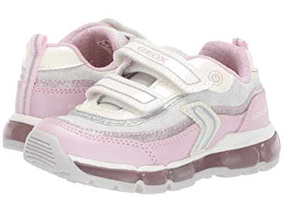 Geox Kids Android Girl 21 (Toddler) (White/Pink) Girl
