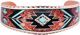 Shouthwest Native American Inspired Cuff Bracelets with Arrowhead Desingn/Copper Cuff Zuni Tribal Jewelry Bracelets