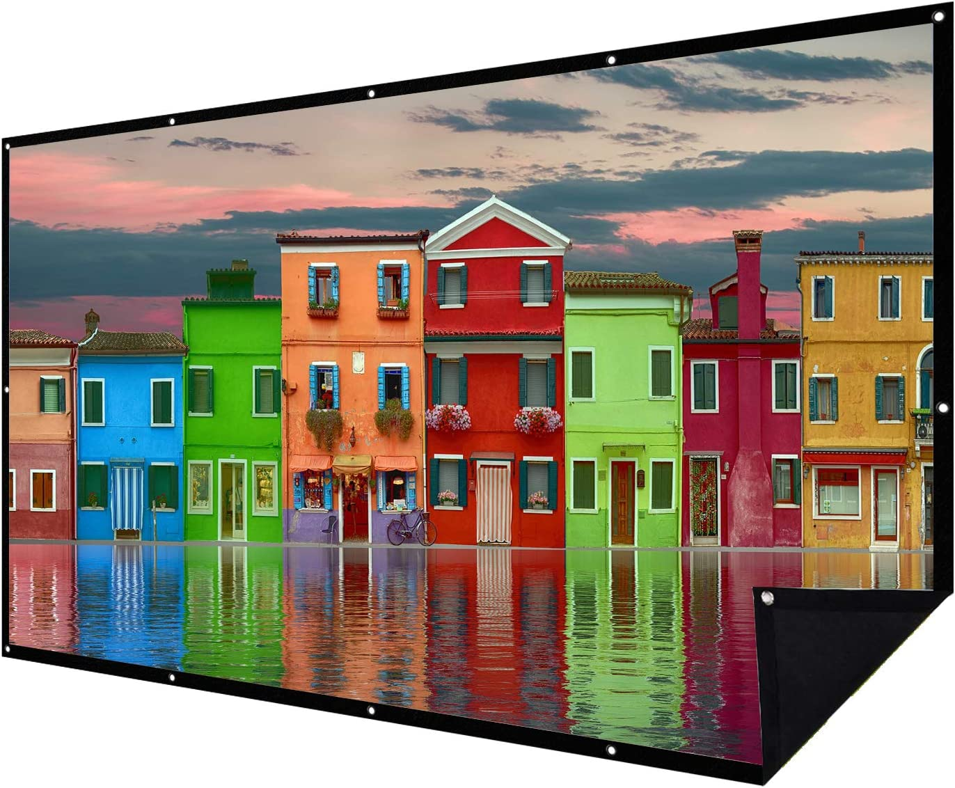 Double Layer Projector Screen specialty shop 100 List price inch 16:9 Projection Portable