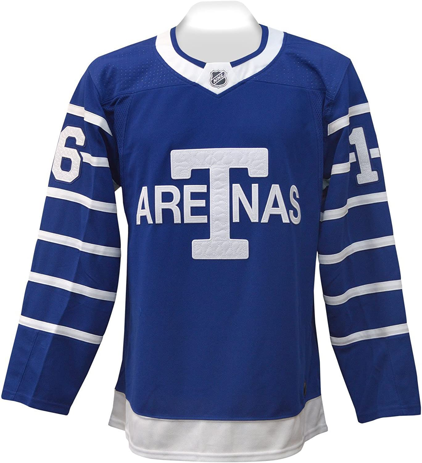 Men's Tgoldnto Arenas adidas blueee Throwback Authentic Hockey – Mitch Marner Jersey
