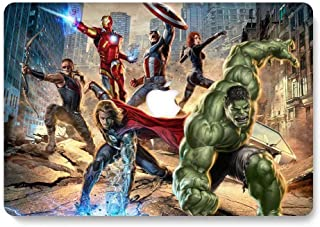 MacBook Air 13 inch Hard Case for Model A1369 / A1466 - AQYLQ Smooth Touch Matte Plastic Rubber Coated Protective Shell Cover - The Avengers 1