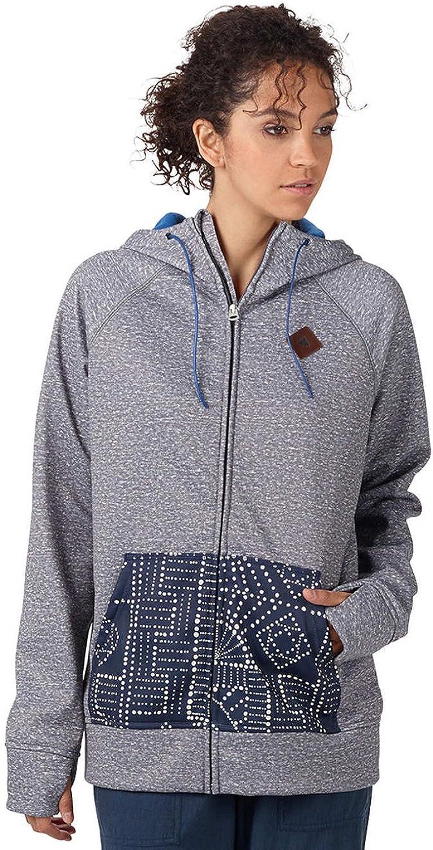 Burton Women's Scoop Hoodie Bonded Fleece Shade Heather