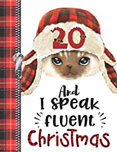 20 And I Speak Fluent Christmas: Lumberjack Plaid Blank Holiday Doodling & Drawing Art Book Cat Sketchbook Journal For Young Women And Men