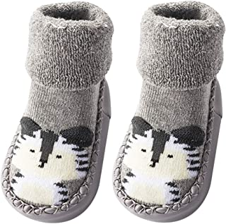 1 Pair Children Infant Non-Slip Floor Socks Toddler Girl Boy Shoes Socks Cotton Knitting Soft Soles Baby Socks