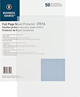 Business Source Top Loading Sheet Protectors - Box of 50 - Non-Glare - Letter-Size (37516)