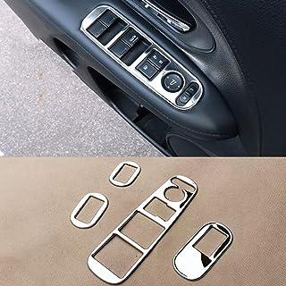YINSHURE Auto Fensterheber Panel Aufkleber EdelstahlCar Zubehör Interieur, Für Honda HRV HR V Vezel LHD 2014 2015 2016 2017
