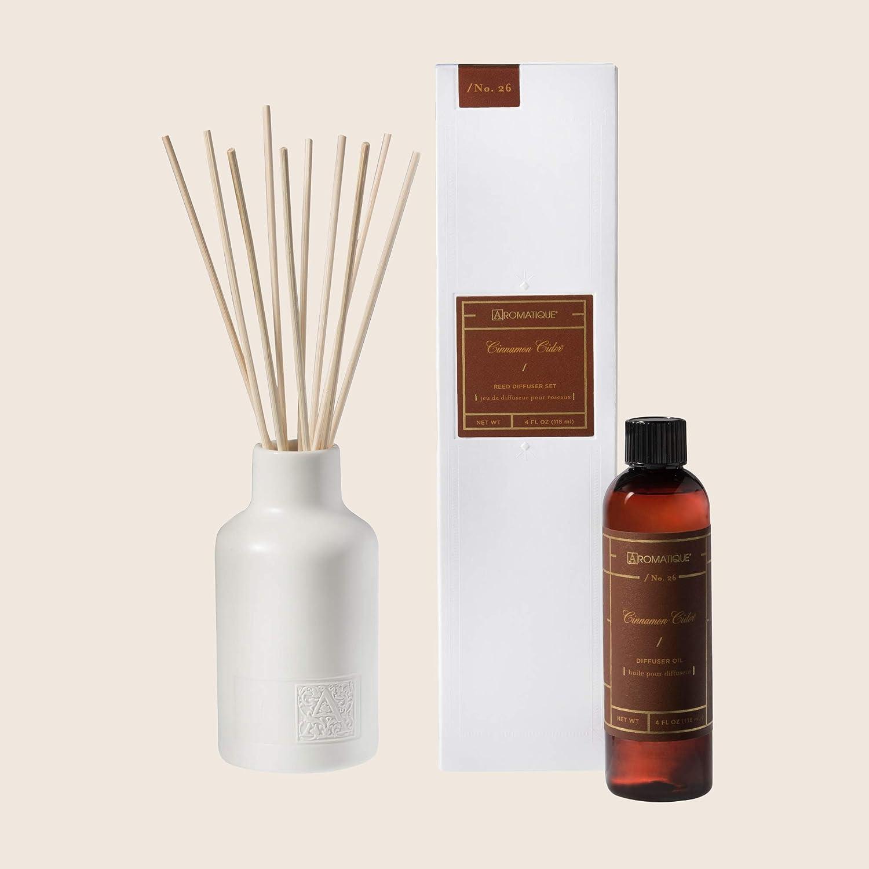 特売 Aromatique Cinnamon Cider 激安格安割引情報満載 Reed Diffuser Ceram Set White Contains
