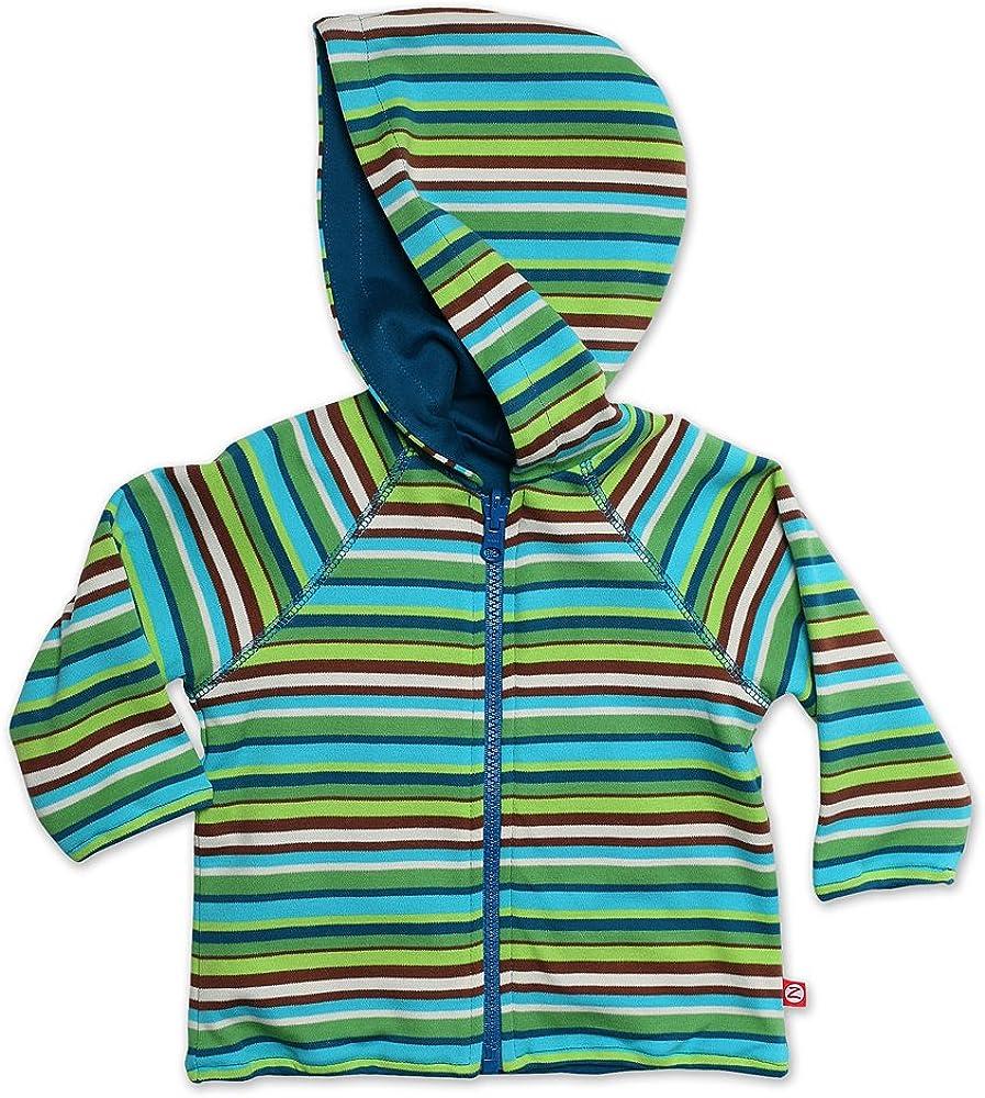Zutano Unisex Baby Multi Stripe Reversible Zip Hoodie