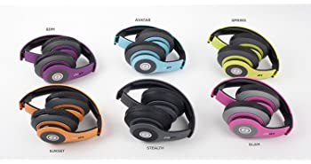 iJoy Matte Finish Premium Rechargeable Wireless Headphones Bluetooth Over Ear Headphones Foldable Headset with Mic (S...