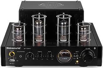 NOBSOUND Amplificador de válvulas MS-10D MKII Hybird con Bluetooth, USB, auriculares para HiFi, color negro