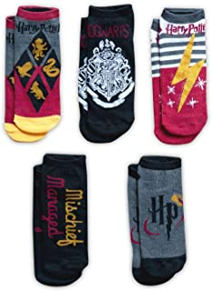 HARRY POTTER Color Adult Ankle Socks - 5-Pack