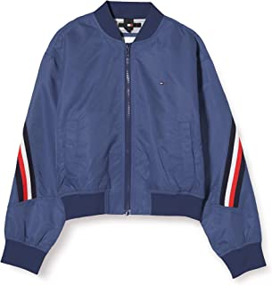 Tommy Hilfiger Global Stripe Taped Bomber Chaqueta para Niñas