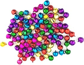 Zhichengbosi Colorful Jingle Bell, 12 MM Craft Christmas Bells, Small Bells for Crafts Party, Festival Decorations and Jew...