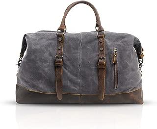 FANDARE Retro Travel Handbag Unisex Oversized Business Tote Bags Student Weekend Bag Outdoor Party Shoulder Bag Waterproof Canvas