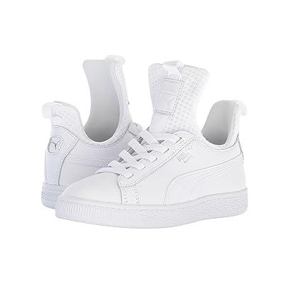 Puma Kids Basket Fierce EP AC (Little Kid) (Puma White/Puma White) Kids Shoes