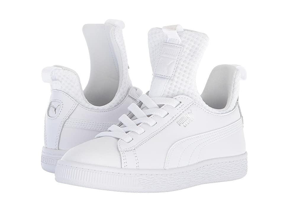 Puma Kids Basket Fierce EP AC (Little Kid) (Puma White/Puma White) Kids Shoes