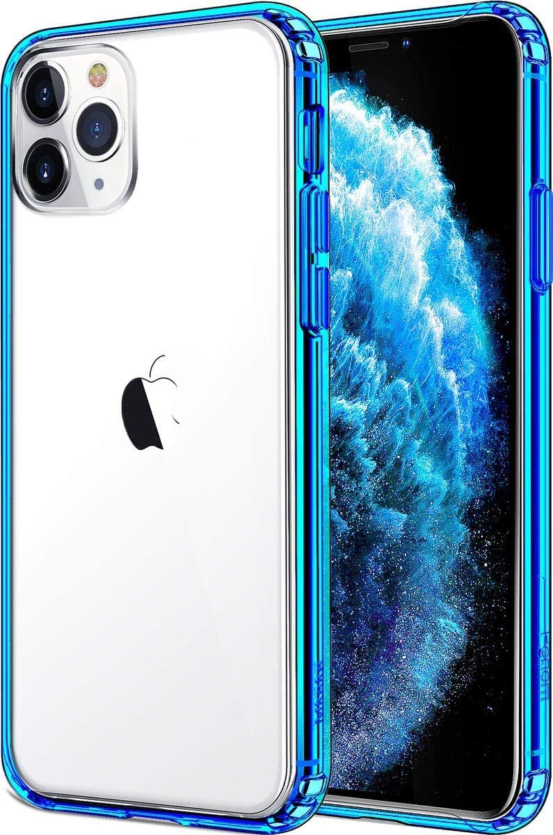 Mkeke Compatible with iPhone 11 Pro Case, Clear Cases for iPhone 11 Pro 5.8 inch Blue