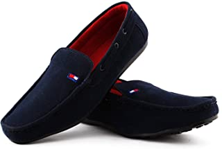 feetway Men's Denim Casual and Formal Loafers