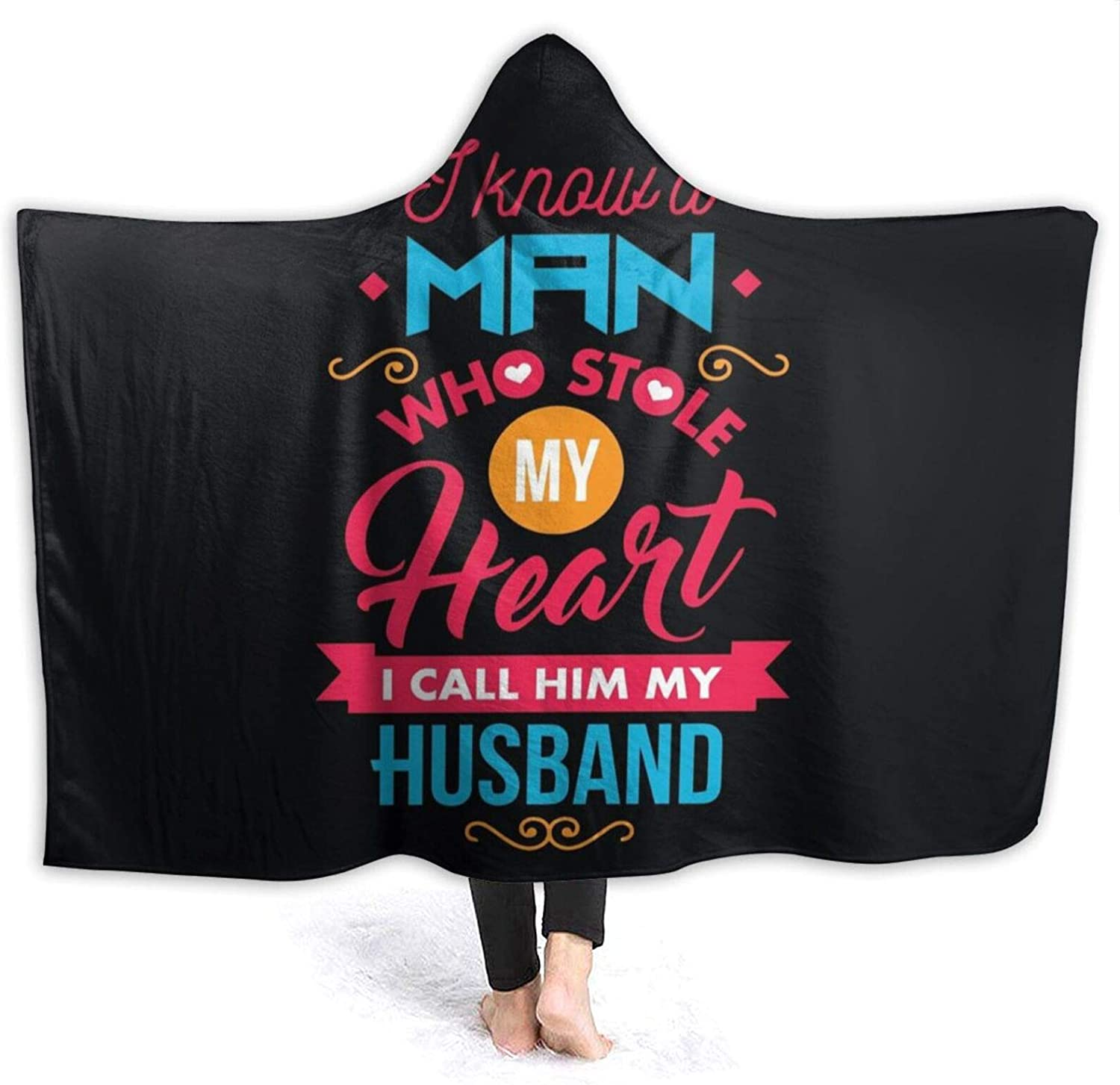 NYIVBE My Special sale item Heart I Call Him Blanket List price Hooded Super Soft Husband
