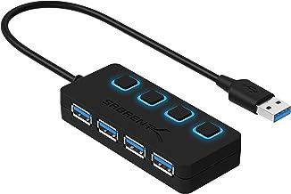 Sabrent a 4 porte Hub USB 3.0 con interruttori di alimentazione individuali e LED (HB-UM43)