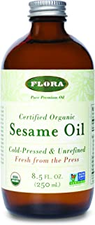Sesame Oil-Organic Flora Inc 8.5 oz Liquid
