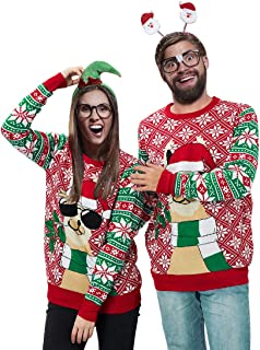 Men & Women Ugly Christmas Sweater Funny Holiday Sweater