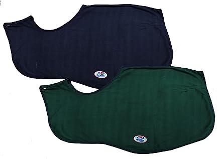 Derby Originals 3/4 Polar Fleece Exercise Rug Horse Sheet (Hunter Green, Horse)
