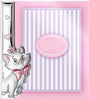 Color rosa. MARCO bilamininado en Plata de primera Ley DE ARISTOGATOS para regalo de reci/én nacido