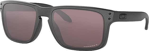 Oakley Men's Holbrook Sunglasses (Steel/Prizm Daily Polarized, One Size) Metal Vault Sunglass Case (Silver)