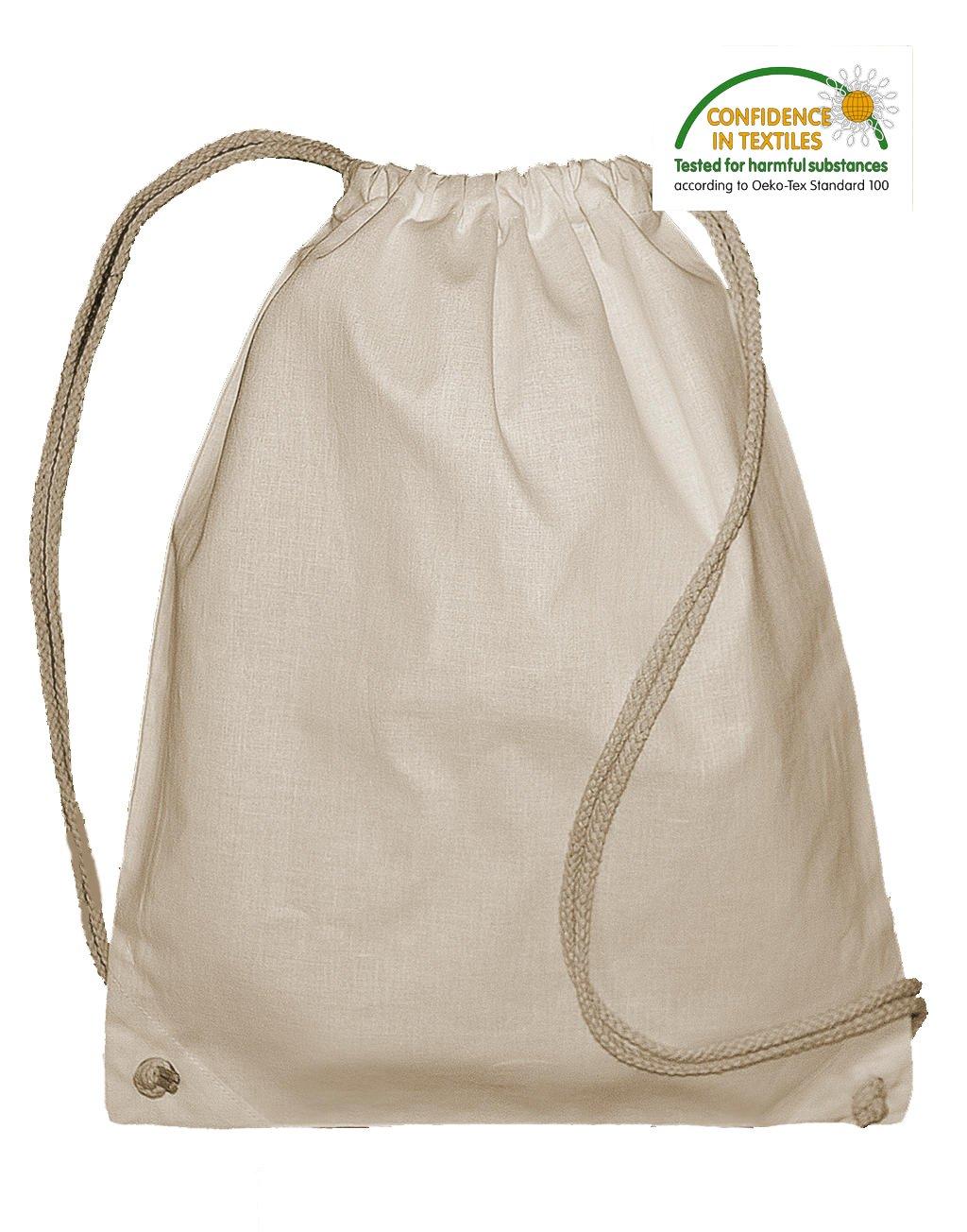 Bolsa Mochila Jassz Algodon organico Natural Grosor 140 grs. Tam ...