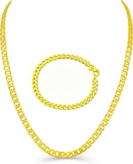 Free Bracelet Life Time Warranty,5mm 7mm 8mm 10mm 12mm Gold Plated Cuban Chain for Men Women