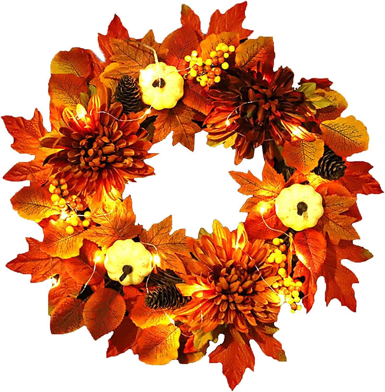 Autumn Wreath Decor Ranking TOP12 Fall Pumpkin Inexpensive Door Maple leaf Wre