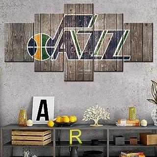 Rustic Home Decor Salt Lake City House Decorations for Living room Utah Jazz Wall Art..