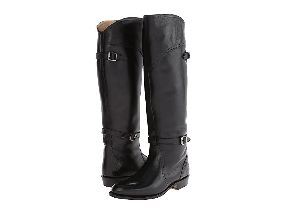 Frye Dorado Riding (Black Leather) Women