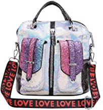 حقيبة كتف كاجوال للنساء من FWEIP بالترتر بالترتر مقاس كبير من الولايات المتحدة وأوروبا، حقيبة ظهر متعددة الألوان