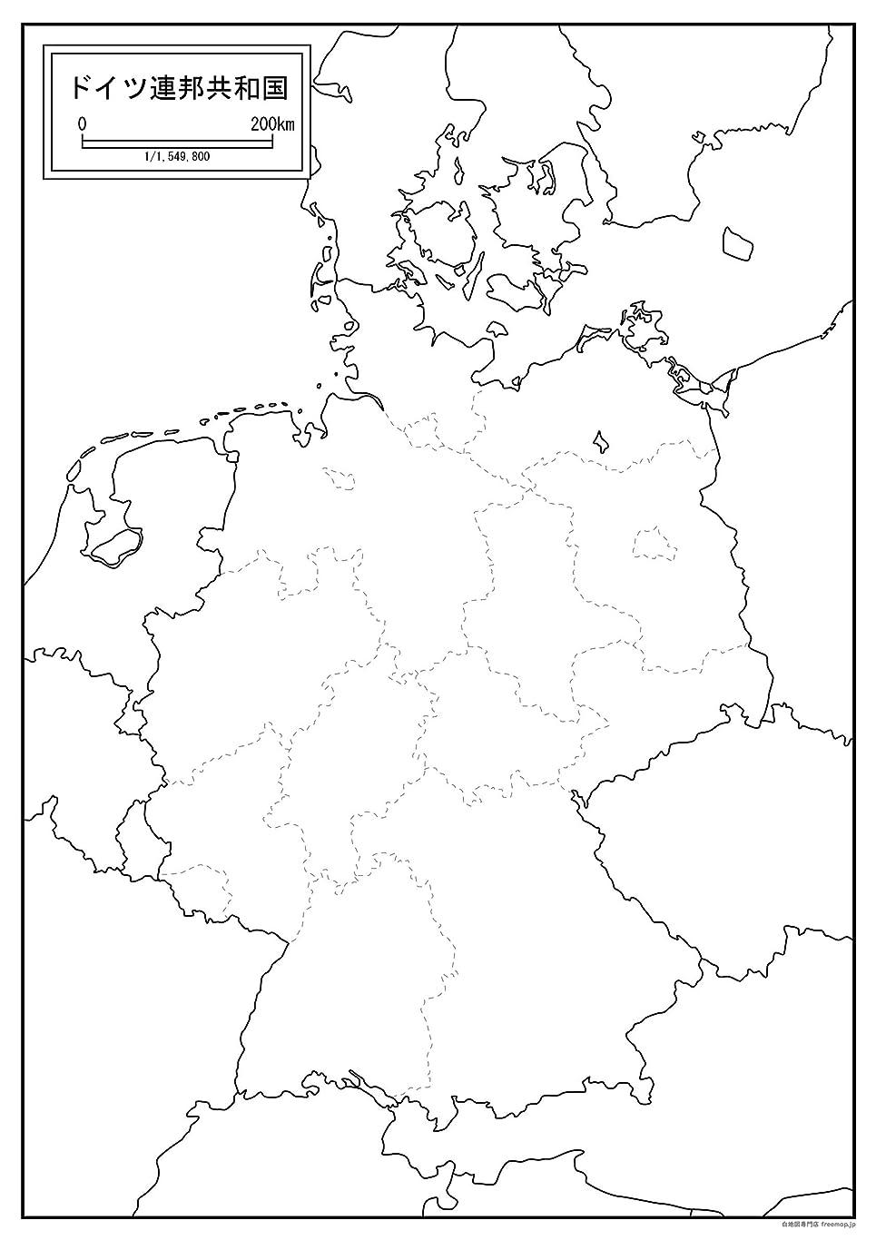 訪問衣類サーバドイツの白地図 A1サイズ 2枚セット