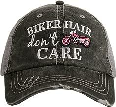 Katydid Biker Hair Don't Care Women's Trucker Hat Cap