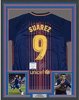 Autographed//Signed Ousmane Dembele FC Barcelona Blue Soccer Jersey Beckett BAS COA Auto #2