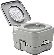 HomCom Portable Travel Camping Toilet Outdoor Hiking - 2.8 Gallon
