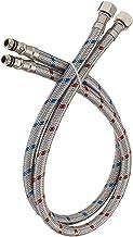 BWE Conector de torneira longo de 101 cm de aço inoxidável trançado mangueira de alimentação fêmea de 1,9 cm de rosca de c...