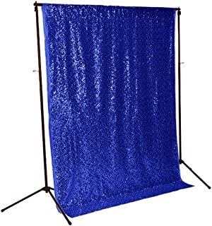 ShinyBeauty Sequin Backdrop 4FTx6FT-Royal Blue Backdrop Photography and Photo Booth Backdrop for Wedding/Party/Photography/Curtain/Birthday/Christmas/Prom/Other Event Decor - 4FTx6FT(48inx72in)