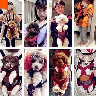 FidgetGear Nylon Mesh Pet Puppy Dog Cat Carrier Backpack Front Net Bag Tote Sling Carrier #2 Purple S