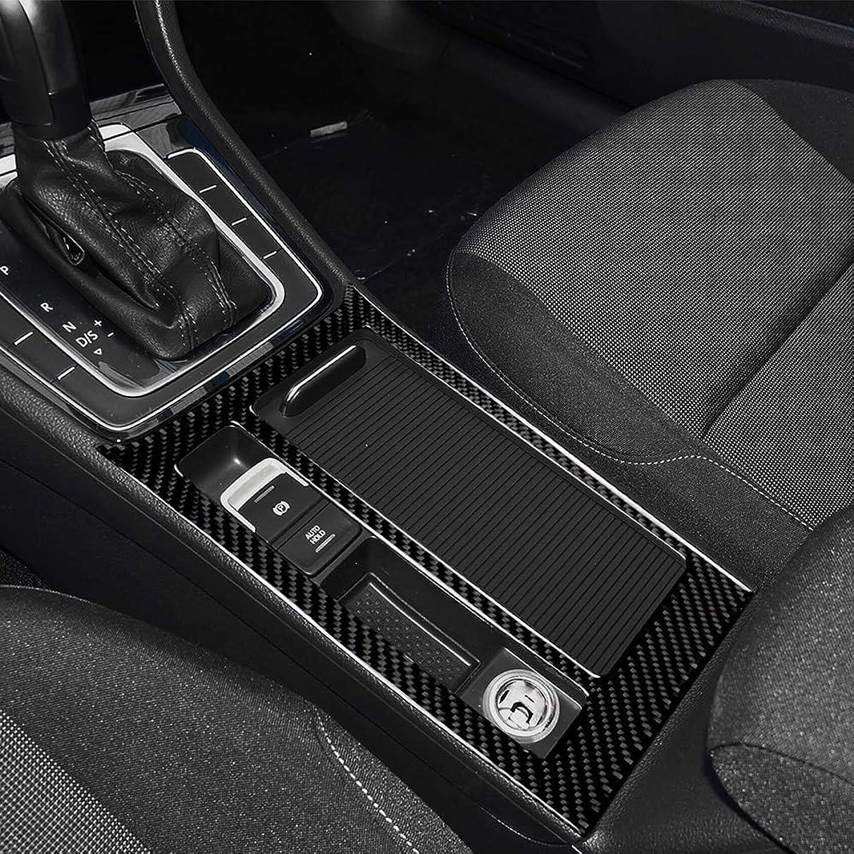 Star-Trade-Inc - Car Accessories Car Sticker Carbon Fiber Car Central Control Gear Cup Panel Cover Trim Sticker for Volkswagen Golf 7 2013-